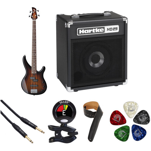 Yamaha TRBX174EW Electric Bass Starter Kit (Tobacco Brown Sunburst)