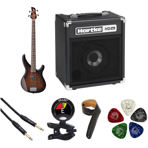 Yamaha TRBX174EW Electric Bass Starter Kit (Tobacco Brown Sunburst)