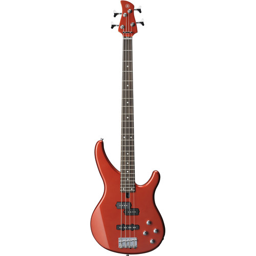 Yamaha TRBX Series TRBX204 4-String Electric Bass with 2-Band Active Electronics (Bright Red Metallic)