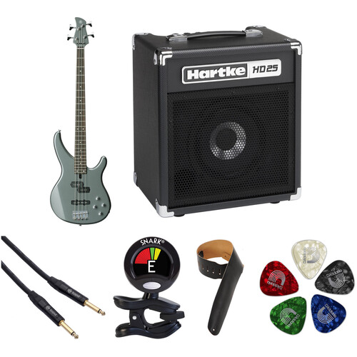 Yamaha TRBX204 Electric Bass Starter Kit (Gray Metallic)