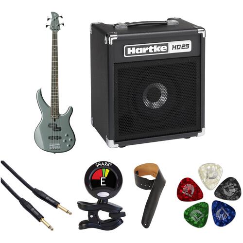 Yamaha TRBX204 Electric Bass Starter Kit (Gray Metallic)