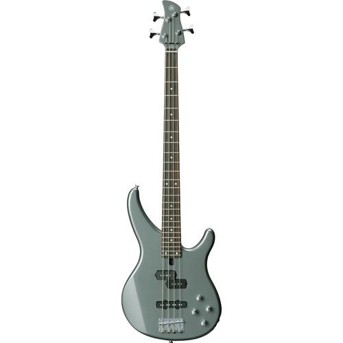 Yamaha TRBX Series TRBX204 4-String Electric Bass with 2-Band Active Electronics (Gray Metallic)