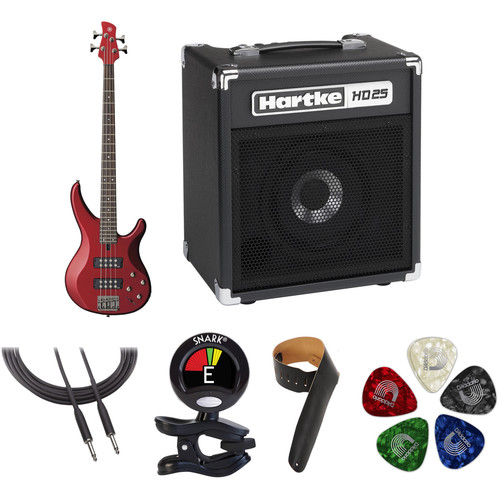 Yamaha TRBX304 Electric Bass Starter Kit (Candy Apple Red)