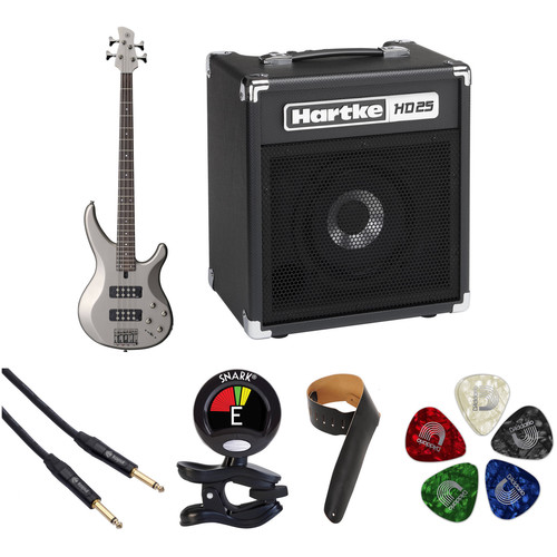 Yamaha TRBX304 Electric Bass Starter Kit (Pewter)