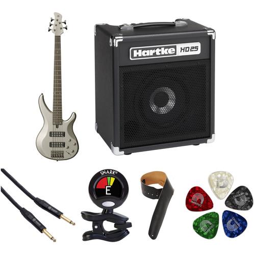 Yamaha TRBX305 5-String Electric Bass Starter Kit (Pewter)