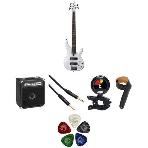 Yamaha TRBX305 5-String Electric Bass Starter Kit (White)