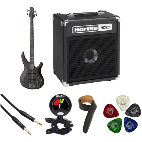Yamaha TRBX504 Electric Bass Starter Kit (Translucent Black)