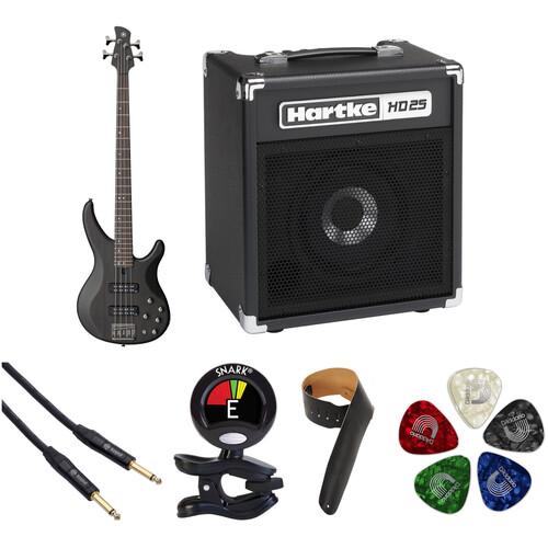 Yamaha - TRBX504 Electric Bass Starter Kit (Translucent Black)