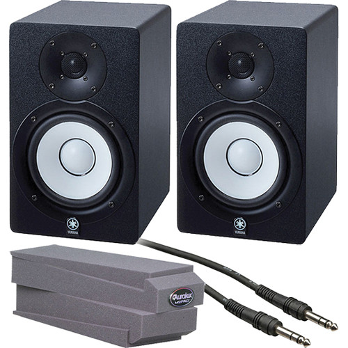 Yamaha hs50m desktop stereo pair kit with 1 4 trs cables for Yamaha hs50m review