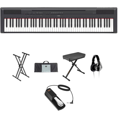Yamaha Yamaha P-115 - 88-Key Digital Piano Value Bundle Kit (Black)