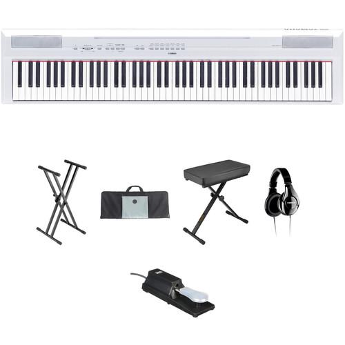Yamaha Yamaha P-115 - 88-Key Digital Piano Value Bundle Kit (White)