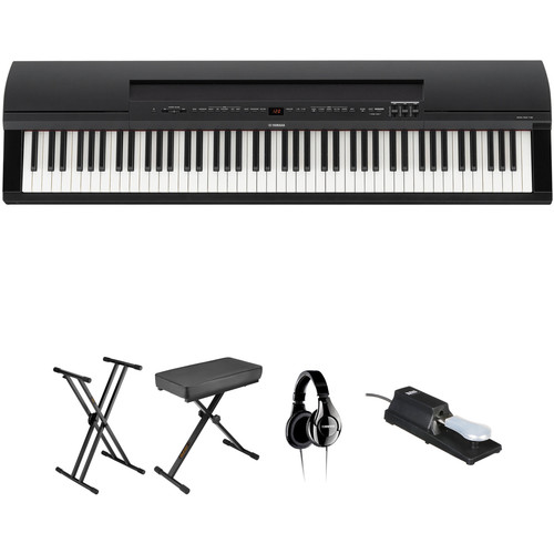 Yamaha P-255 Home Value Bundle (Black)