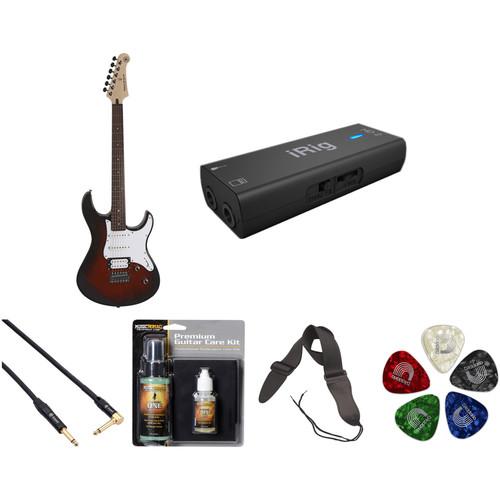 Yamaha PAC112V Electric Guitar Home Recording Starter Kit (Old Violin Sunburst)