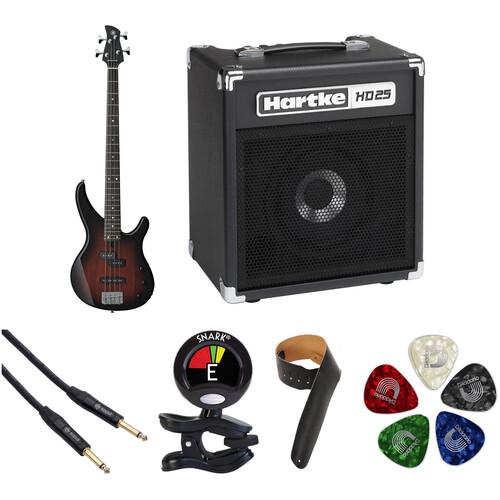 Yamaha TRBX174 Electric Bass Starter Kit (Old Violin Sunburst)