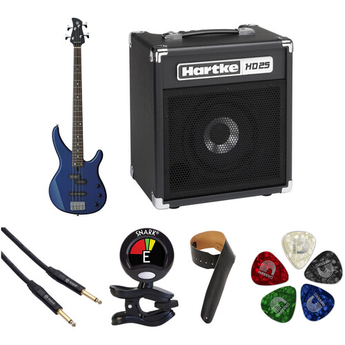 Yamaha TRBX174 Electric Bass Starter Kit (Dark Blue Metallic)
