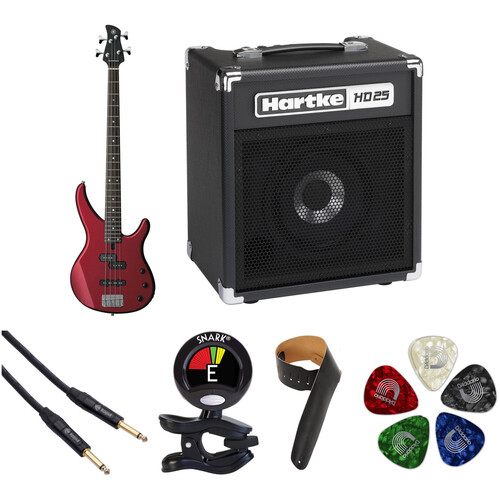 Yamaha TRBX174 Electric Bass Starter Kit (Red Metallic)