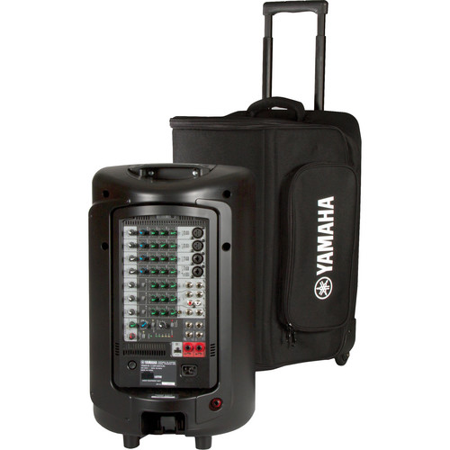 Yamaha Soft Rolling Carry Case for STAGEPAS 600i Portable PA System or 1 MSR100 Powered Speaker (Black)
