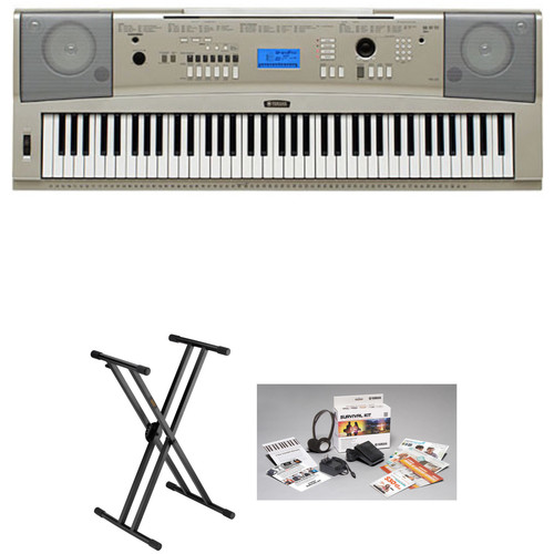 Yamaha YPG-235 Portable Keyboard Essentials Bundle