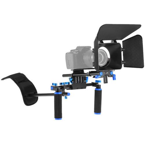 YELANGU D101 Shoulder Rig with Matte Box and Follow Focus