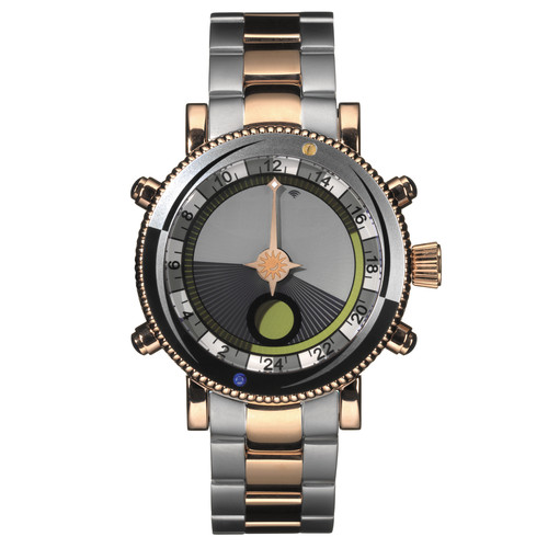 Yes Watch W307.4 WorldWatch II Solunar Bezel (IP Rose Gold and Black)