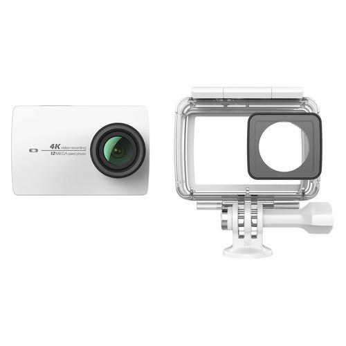YI Technology 4K Action Camera with Waterproof Case Kit (White)