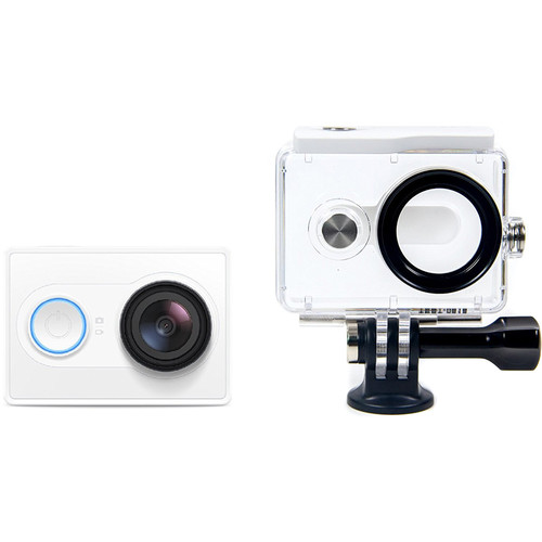 YI Technology Action Camera with Waterproof Case (White)