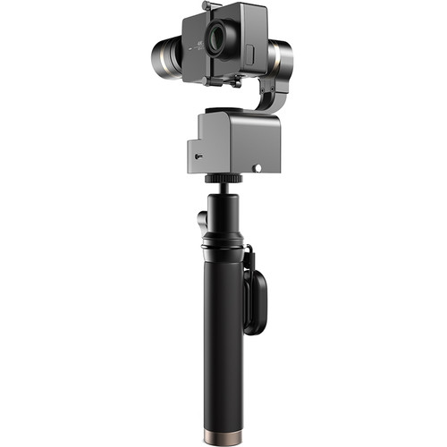 YI Technology 4K Action Camera with Gimbal Head, Selfie Stick & Bluetooth Remote (Black)