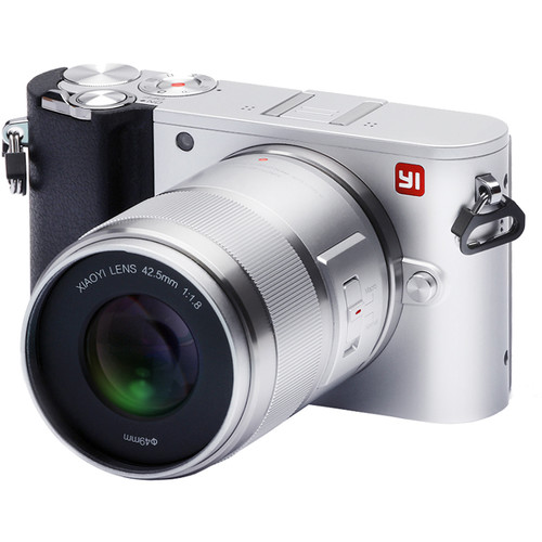 YI Technology M1 Mirrorless Micro Four Thirds Digital Camera with 42.5mm Lens (Ice Silver)