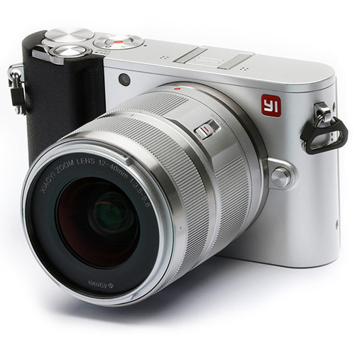 YI Technology M1 Mirrorless Micro Four Thirds Digital Camera with 12-40mm Lens (Ice Silver)