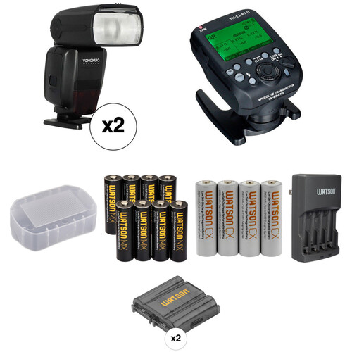 Yongnuo Speedlite YN600EX-RT II Wireless Flash Kit for Canon Cameras