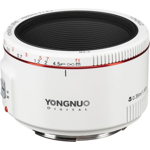 Yongnuo YN 50mm f/1.8 II Lens for Canon EF (White)