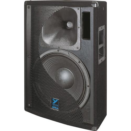 """Yorkville Sound E152 Elite Series Dual 15"""" Loudspeaker (1400 W, Black Ozite Carpet Finish)"""