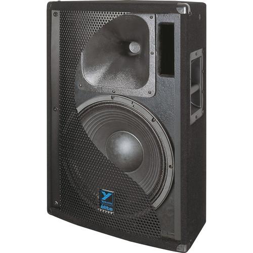 "Yorkville Sound E152B Elite Series Dual 15"" Loudspeaker (1400 W, Black Ultrathane Painted Finish)"