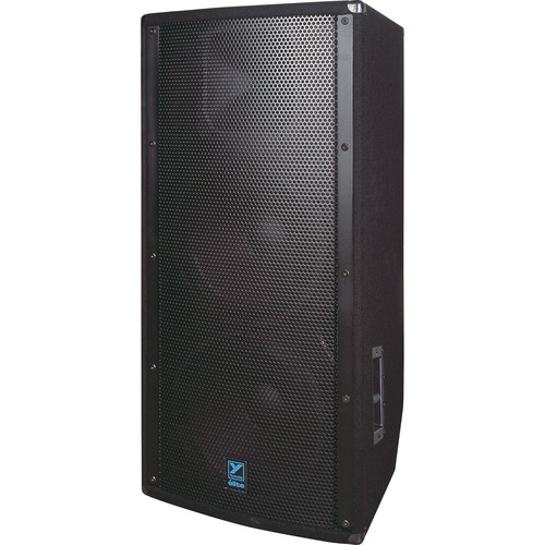 "Yorkville Sound E215B Elite Series Dual 15"" Loudspeaker (2400 W, Black Ultrathane Painted)"