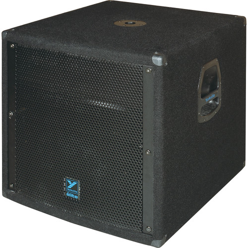 "Yorkville Sound LS608 18"" Elite Series Passive Subwoofer (1,400W, Black Ozite Carpet)"