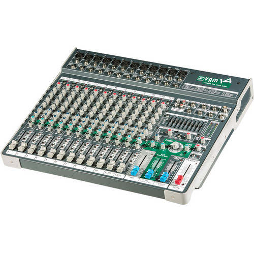 """Yorkville Sound VGM14 Passive Compact Mixer with 10 Mono XLR & 1/4"""" Inputs and Global Phantom Power"""
