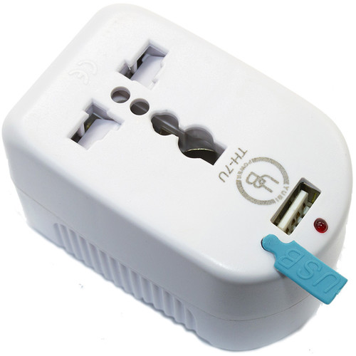 Yubi Power Travel Adapter with Universal Plug Options, Universal Outlet & USB Port