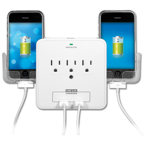 Yubi Power Wall Charging Station Plus Dual Phone Holder