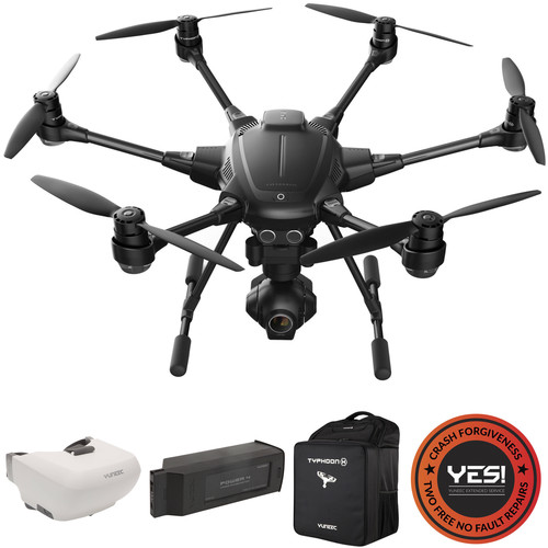 YUNEEC Typhoon H Kit with SkyView, Extra Battery, Backpack, and YES! Warranty