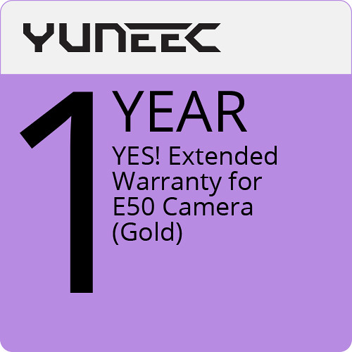 YUNEEC YES! Extended 1-Year Warranty for E50 Camera (Gold)