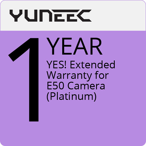 YUNEEC YES! Extended 1-Year Warranty for E50 Camera (Platinum)