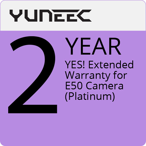 YUNEEC YES! Extended 2-Year Warranty for E50 Camera (Platinum)