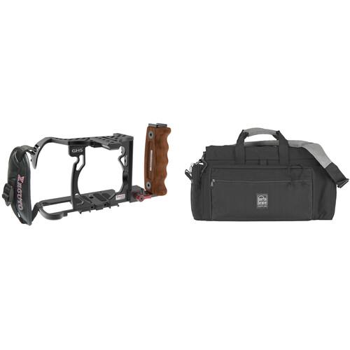 Zacuto GH5 Cage with Porta Brace RIG-GH5 Semi-Rigid Camera Cargo Case Kit