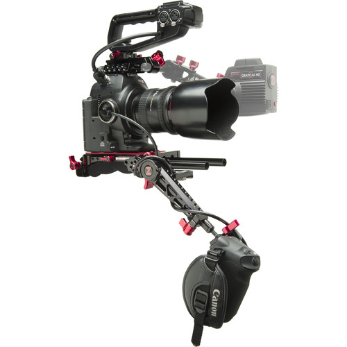 Zacuto EVF Recoil Pro with ZGrip Trigger for C100 Mark II