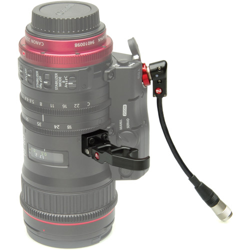 "Zacuto Lens Support for Canon 18-80 with Right Angle 6"" Cable for ZSG-C10 Zoom Grip"