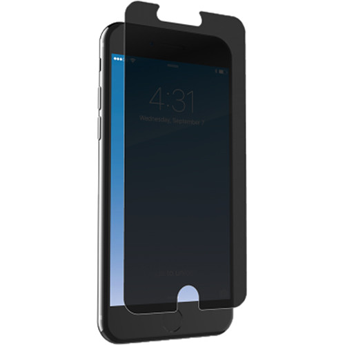 ZAGG InvisibleShield Glass+ Privacy Screen Protector for iPhone 6 Plus/6s Plus/7 Plus/8 Plus