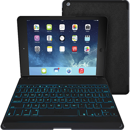 ZAGG ZAGGkeys Folio with Backlit Keyboard for Apple iPad Air (Black)