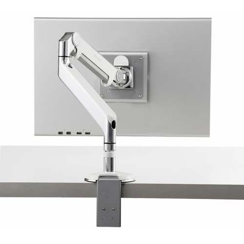 Humanscale M2 Monitor Arm with Clamp Mount (White/Chrome)