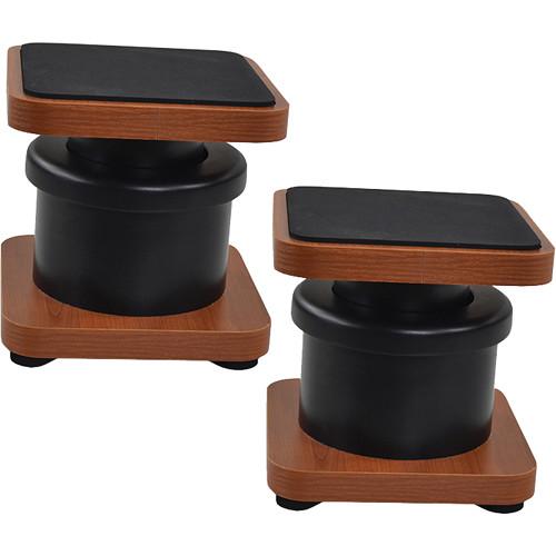 Zaor MIZA D-Stand Monitor Speaker Stands, Pair (Black/Cherry)