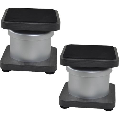 Zaor MIZA D-Stand Monitor Speaker Stands, Pair (Titanium/Wenge)